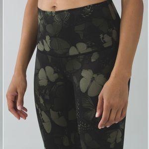 Lululemon Size 4 high-rise green leggings **RARE**